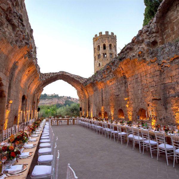 Badia di Orvietto Matrimonio organizzato da Le Reve