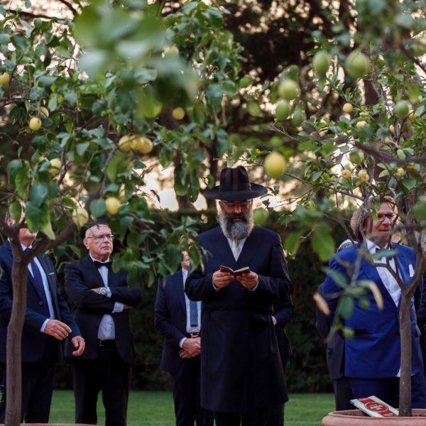 Cerimonia ebraica a Roma Villa Aurelia